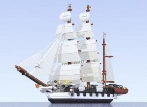 HMS Beagle, aus LEGO gebastelt von Luis Pena